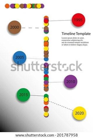 Simple Timeline Template Sample Timeline Static And Dynamic Excel - simple timeline template