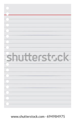 Loose Leaf Paper Your Background Element Stock Vector 694984975 - loose leaf paper background