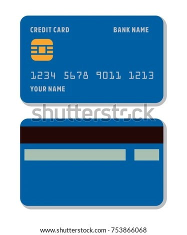 Blank Credit Card Template Flat Style Stock Vector 753866068 - printable credit card template