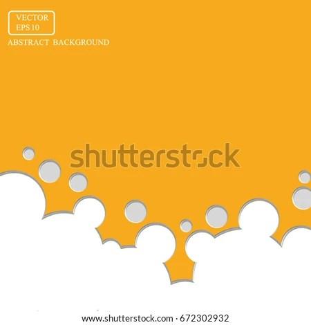 Orange Background Circle 3 D Bubble Design Stock Vector (2018