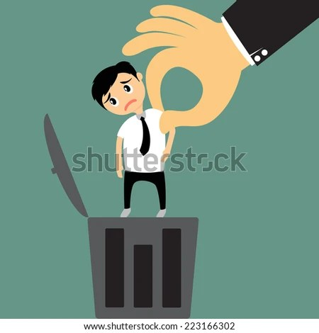 Layoff Concept Big Hand Boss Removing Stock Vector (2018) 223166302