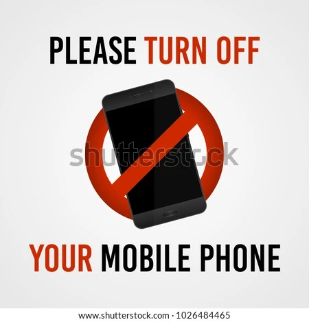 Please Turn Off Your Mobile Phone Stock Vector 1026484465 - Shutterstock