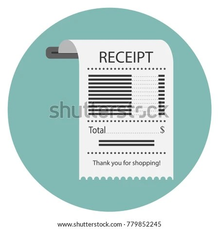 Concept Receiving Check About Payment Receipt Stock Photo (Photo