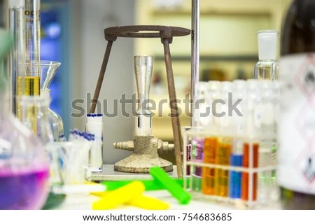 Scientists Organizing Equipment Finding Melting Points Stock Photo