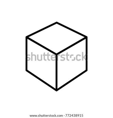 3 D Cube Vector Icon Stock Vector (Royalty Free) 772438915