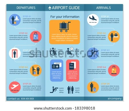 ... Airport Business Infographic Brochure Template Security Stock   Security  Manual Template ...