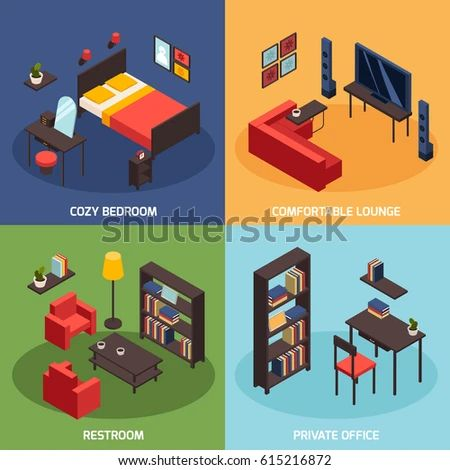 Book isometric flat icons set vector stock vector
