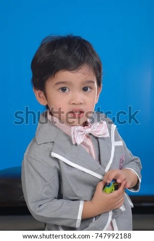 Asian Childrens Picture Student Identification Card Stock Photo - student identification card