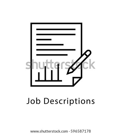 Job Description Vector Line Icon Stock Vector 596587178 - Shutterstock - Stock Job Description