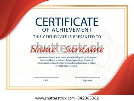 Certificate Templatediploma Layouta4 Size Vector Stock Photo (Photo - certificate layout