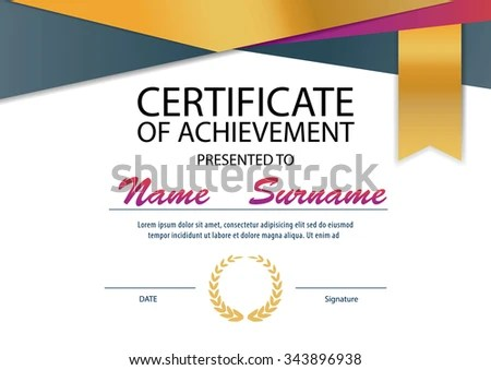 Certificate Templatediploma Layout A 4 Size Vector Stock Photo - certificate layout