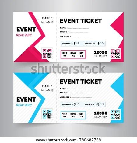Event Ticket Card Modern Design Template Stock Vector 780682738