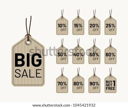 Discount Hang Tag Vector Design Template Stock Vector 1045421932