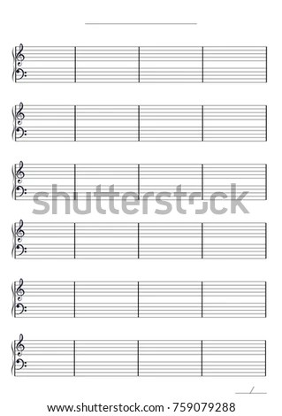 Music Paper Template Stock Vector 759079288 - Shutterstock