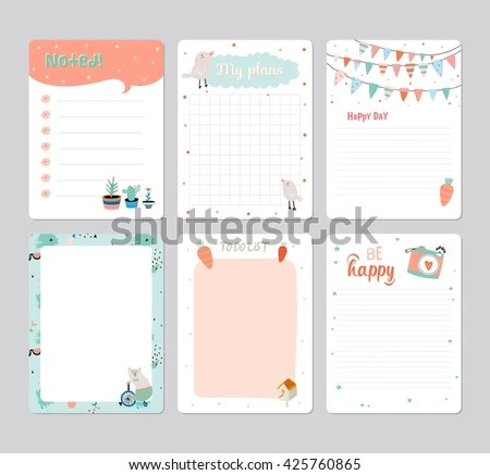 Cute Calendar Daily Planner Template 2016 Stock Vector (2018 - calendar daily planner