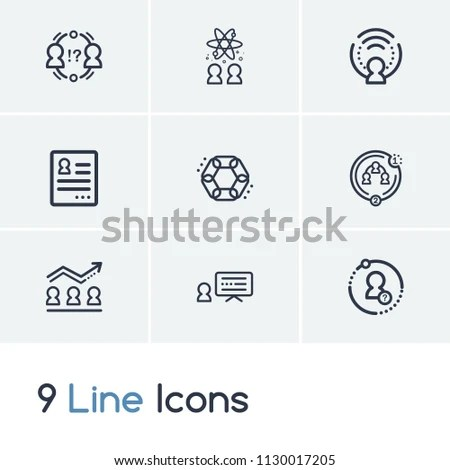 Hr Icon Set Conflict Management Coherence Stock Vector (Royalty Free