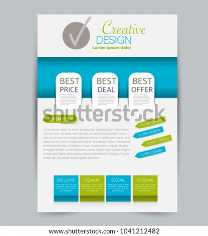 Flyer Template Design Business Education Advertisement Stock Vector - advertisement flyer template