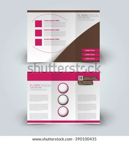Brochure Mock Design Template Business Education Stock Vector