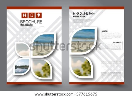 Flyer Design Business Brochure Template Annual Stock Vector (2018 - presentation cover with window