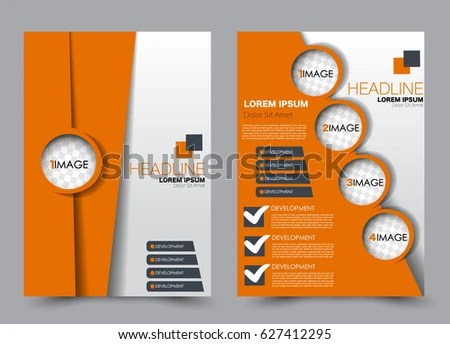 Flyer Brochure Template Annual Report Cover Stock Vector 627412295