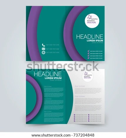Fold Brochure Template Flyer Background Design Stock Vector HD