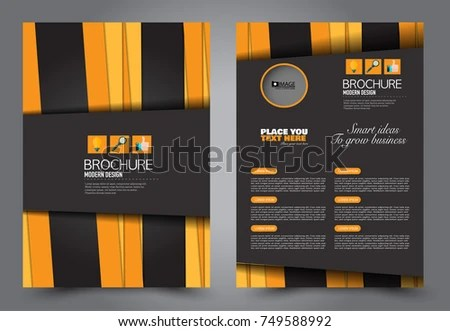 Black Orange Flyer Template Design Brochure Stock Vector 749588992 - black flyer template