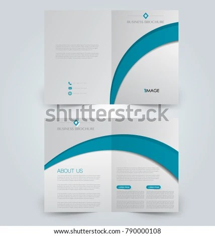 Fold Brochure Template Flyer Background Design Stock Photo (Photo - phamplet template