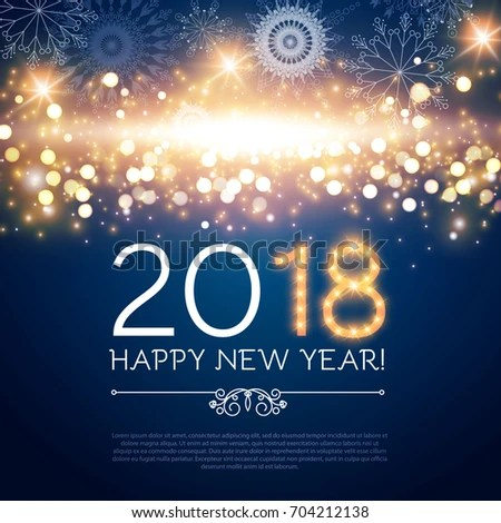 Happy New 2018 Year Poster Flyer Stock Photo (Photo, Vector - new year poster template