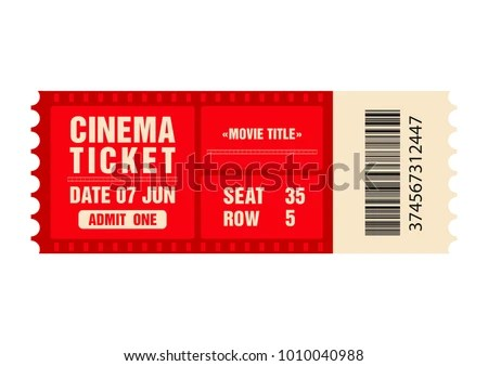 Cinema Ticket Movie Ticket Template Isolated Stock Vector HD