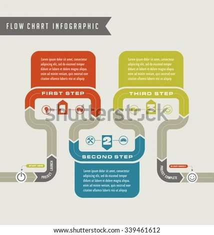Vector Flow Chart Template Infographic Stock Vector 339461612 - flowchart template