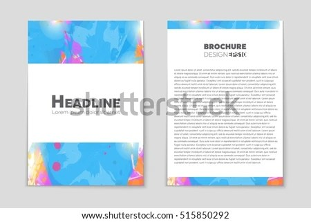 Abstract Vector Layout Background Set Art Stock Vector 515856136 - blank sign in sheet