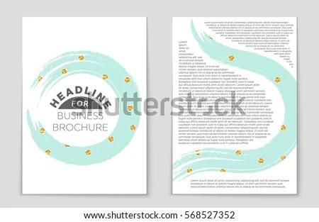 Colourful Annual Report Brochure Flyer Design Imagem Vetorial De - blank sign in sheet