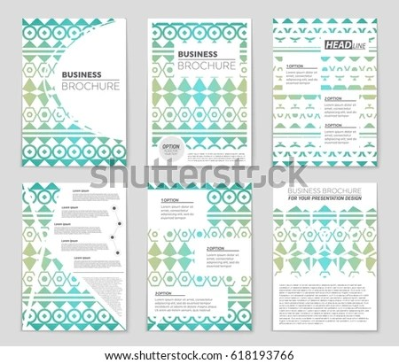 Abstract Vector Layout Background Set Art Stock Vector 618197051 - blank sign in sheet