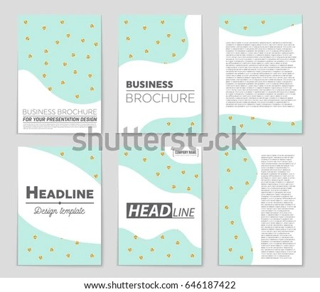 Abstract Vector Layout Background Set Art Stock Vector 646144690 - blank sign in sheet
