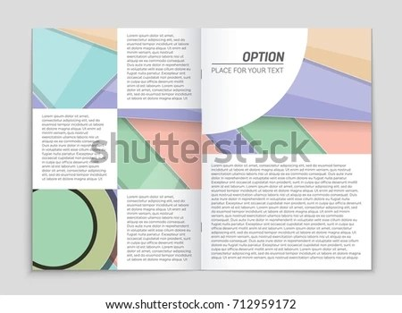 Abstract Vector Layout Background Set Art Stock Vector 718523857 - blank sign in sheet
