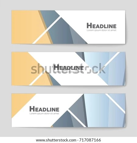Abstract Vector Layout Background Set Art Stock Vector 666251503 - blank sign in sheet