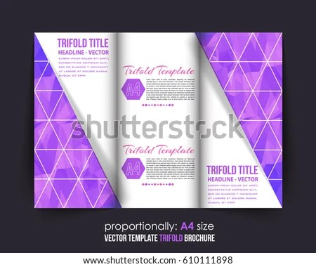 A 4 Document Brochure Vector Background Corporate Stock Vector