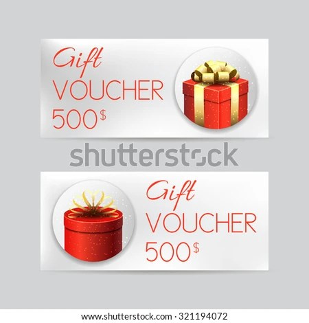 Gift Voucher Template Christmas Gifts Vector Stock Vector - christmas gift vouchers templates