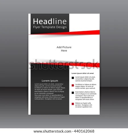 Vector Design Black White Flyer Cover Stock Photo (Photo, Vector