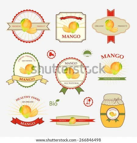 Mango Set Label Design Templates Vector Stock Vector (2018