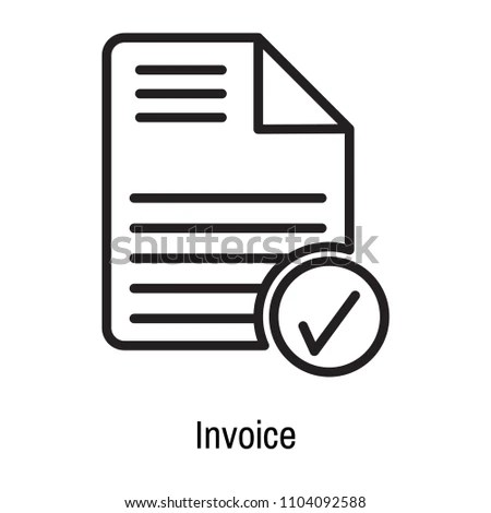 Invoice Icon Vector Isolated On White Stock Vector 1104092588