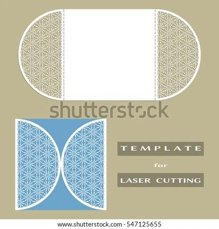 Abstract Cutout Openwork Filigree Template Wedding Stock Vector