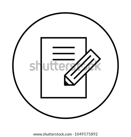 Note Edit Vector Icon Editing Notebook Stock Vector 1049575892