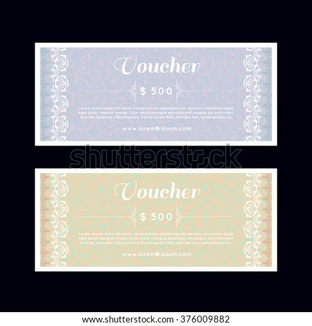 Discount Coupon Gift Voucher Gift Certificate Stock Vector - money coupon template