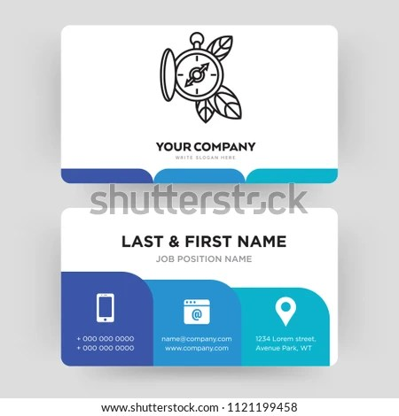 Compass Business Card Design Template Visiting Stock Vector (Royalty