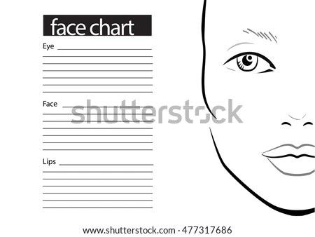 Eye Chart Template Face Chart Makeup Artist Blank Template Vector - eye chart template