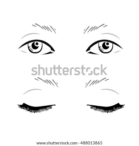 Face Chart Makeup Artist Blank Template Stock Illustration 488013865 - eye chart template