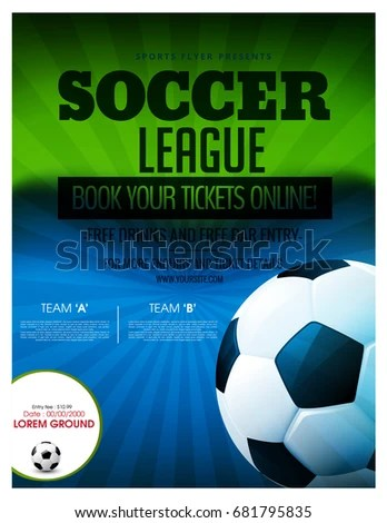Soccer Event Flyer Template Eps 10 Football Stock Vector HD (Royalty