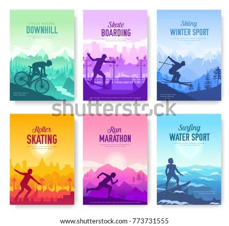 Various Sports Rest Day Vector Brochure Stock Vector HD (Royalty - sports brochure