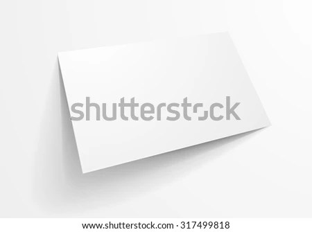 Detailed Illustration Blank Business Card Template Stock Vector - blank business card template